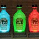 Elijah Craig Bourbon Whiskey Remote Control Color Change Bottle Lamp Bar Light