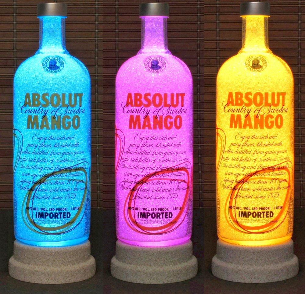 Absolut Vodka Mango Remote Controlled Color Changing led Bottle Lamp Bar Light