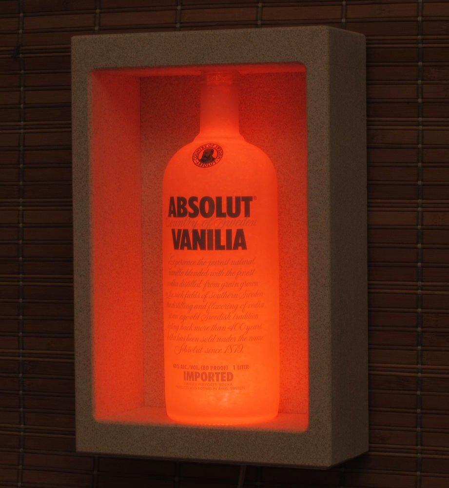 Absolut Vanilla Sconce Wall Mount color Change Bottle Lamp Bar Light LED Remote