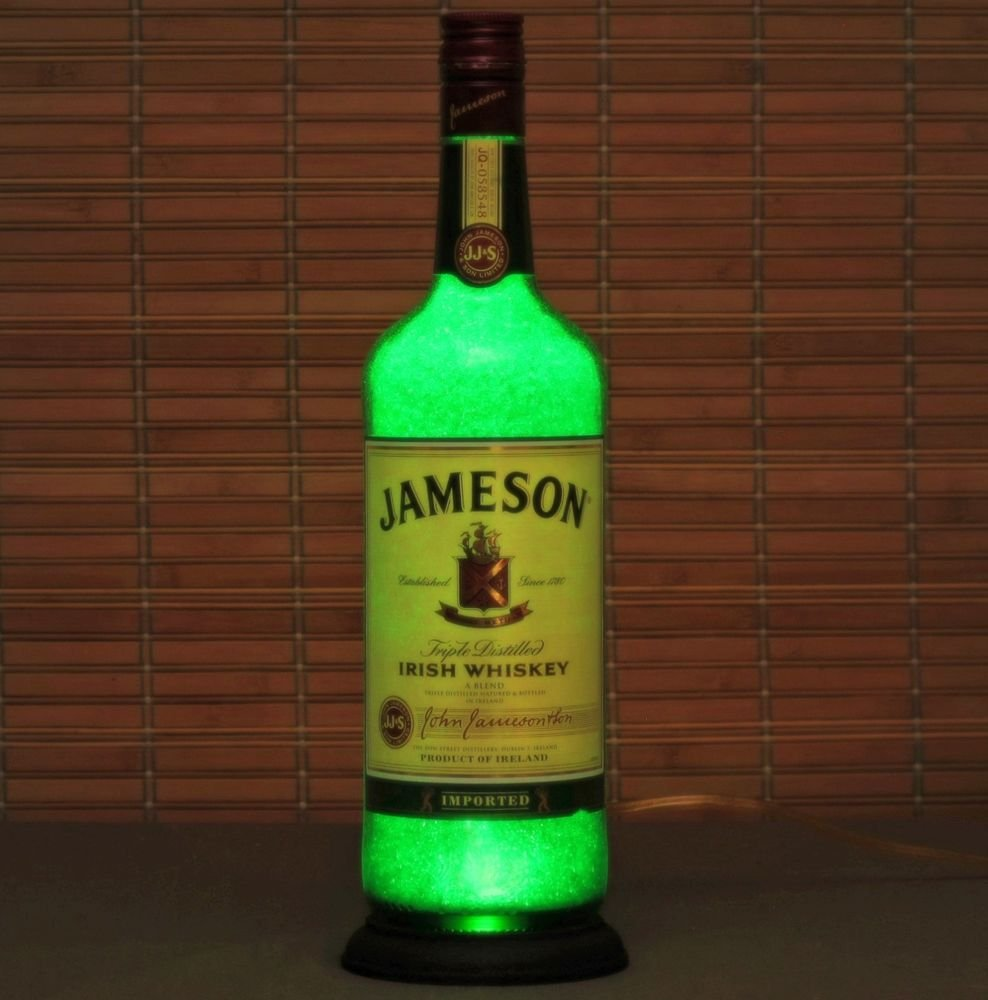 Jameson Irish Whiskey LED Liquor Bottle Lamp Night Light Bar Sign Man Cave Pub
