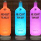 Absolut Vodka Vanilla Remote Control Color Changing Bottle Lamp LED Bar Light