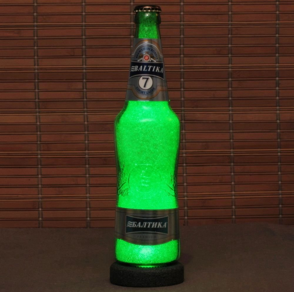 Baltika 7 Russian Lager 500ml LED Beer Bottle Lamp Night Light Bar Man Cave Pub