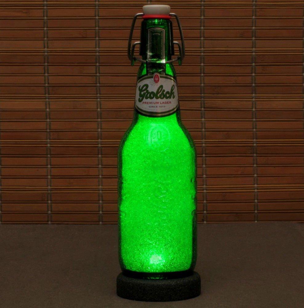 Grolsch Lager LED Beer Bottle Lamp 16 oz Night Light Bar Man Cave Pub Holland
