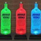 Absolut Vodka 1.75 Liter LED Color Change Remote Bottle Lamp Bar Light Man Cave