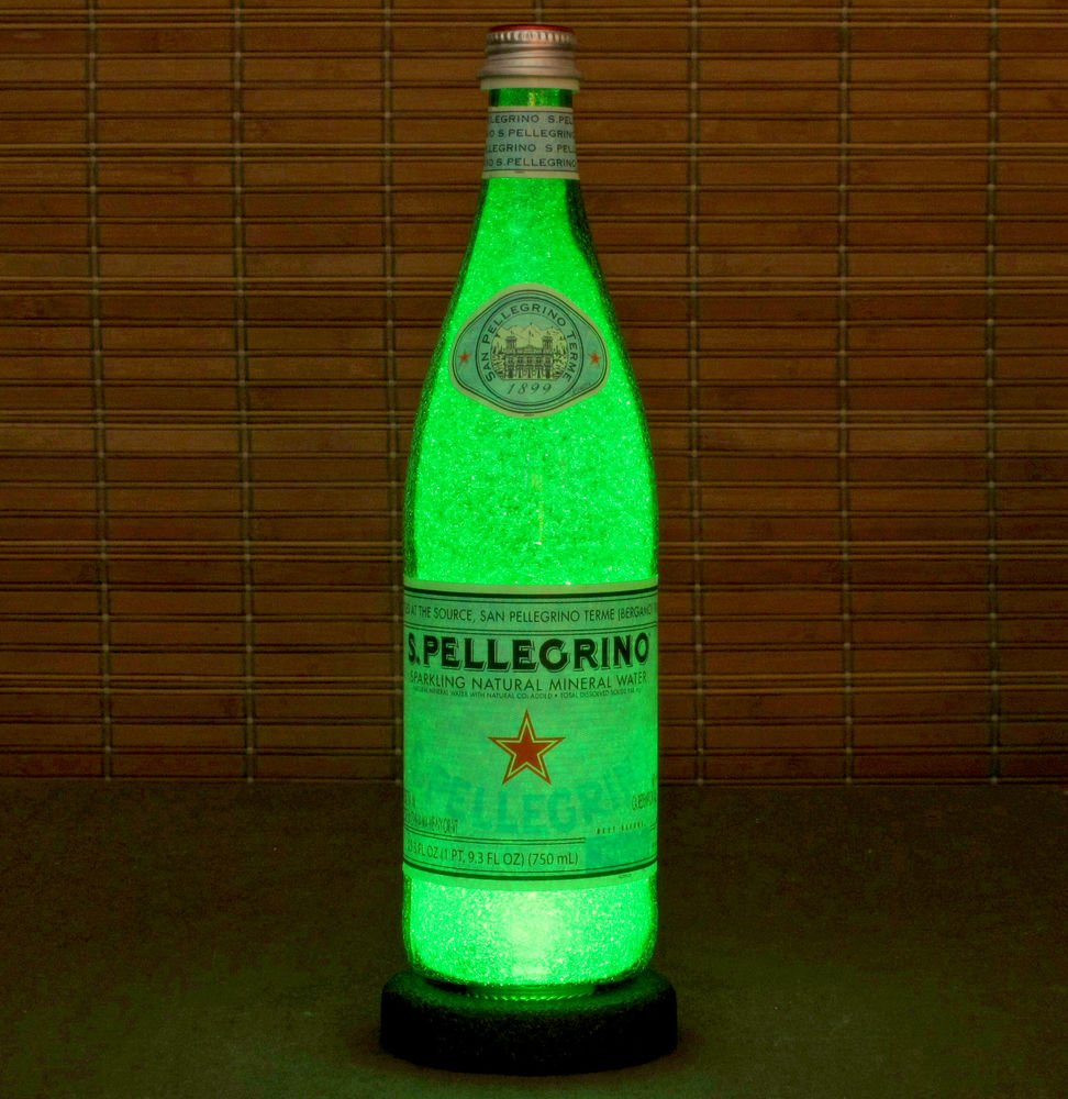 San Pellegrino Italian Mineral Water 24oz LED Bottle Lamp Light Bar Decor Italy