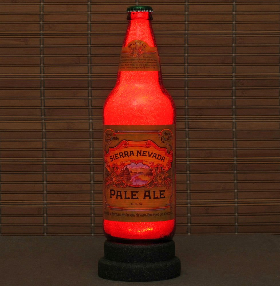 Sierra Nevada Pale Ale Beer 24 oz LED Beer Bottle Lamp Night Light Bar Man Cave