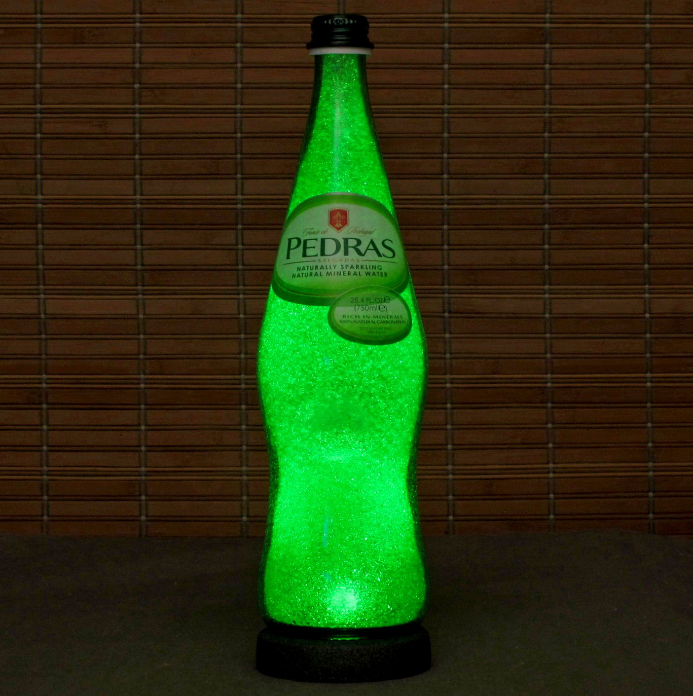 Pedras Portugal Mineral Water 750 ml LED Bottle Lamp Night Light Bar Man Cave