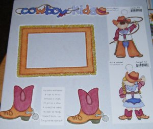 Cowboy Kids-MMI-Retired HTF-Scrapbook set