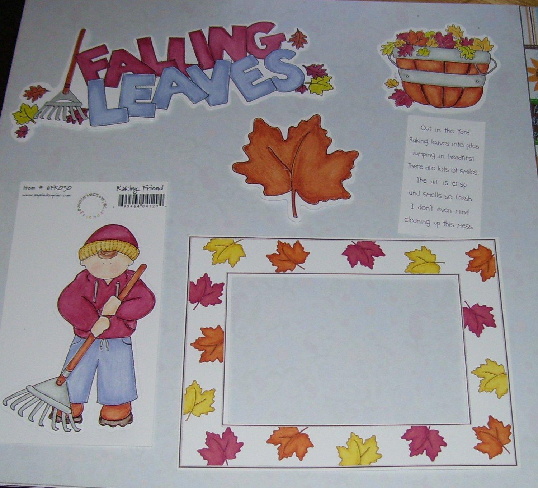 Falling Leaves-MMI-Retired HTF-Scrapbook set