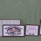 Barnyard Friends Pig & Rooster-5pc Mat Set