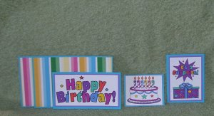 Happy Birthday-5pc Mat Set