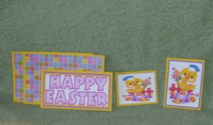 Happy Easter Chick-5pc Mat Set