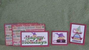 Happy Holidays jr-5pc Mat Set