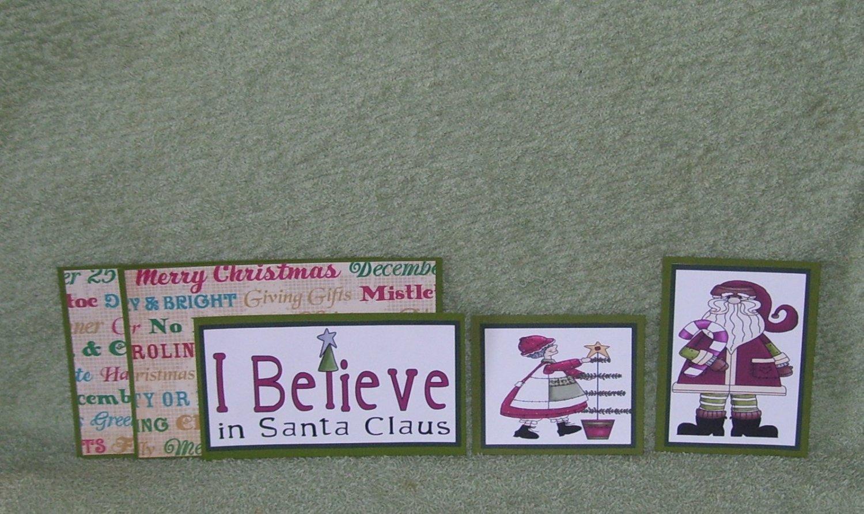 I Believe In Santa-5pc Mat Set