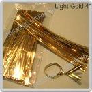 "100pcs Light Gold 4"" Metallic Twist Tie for Cake Pop Lollipop candy Cello Bag"