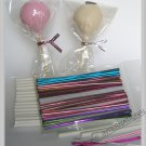 "100(4 1/2"" Lollipop Stick + 3""x4"" Bag+Twist Tie)for cake pop lollipop candy"