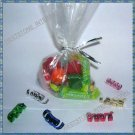 "100pcs 6""x9"" clear gift candy cello bag + 100 metallic twist tie"