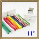 """2000pcs 11"""" Paper Twist Tie - 5 COLORS FOR YOUR CHOICE"""