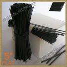 """1000 Plastic Black 5"""" Twist Tie - Flat shape"""