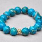 Aqua Terra Jasper & Yellow Swarovski Pave Eternal Bracelet