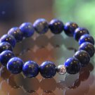 Lapis Lazuli Sterling Silver Eternal Bracelet