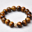 Tiger Eye & Swarovski Pave Eternal Bracelet