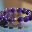 Amethyst and 14K Yellow Gold Eternal Bracelet