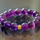 Amethyst and Swarovski Pave Eternal Bracelet
