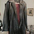 Leather Coat Medium
