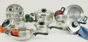 World's Finest 7-Ply 9-Element Steam Control 17pc Surgical Stainless Steel Waterless Cookware Set