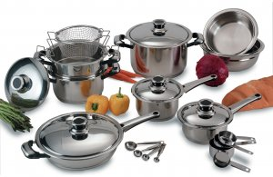 KTSM22C - Chefs Secret by Maxam 22pc Super Cookware Set