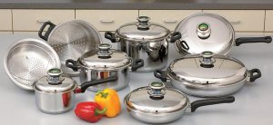KTLARGE14 - Chef's Secret 14pc 9Element Cookware Set with Thermo Control Knobs