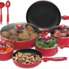 KTAL16 - Chef's Secret 16pc Red Aluminum Cookware Set