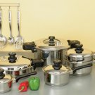 KTLP17 - Precise Heat 12Element 17pc Cookware Set with 2 Pressure Cookers