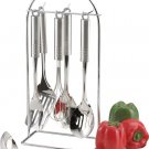 KTSS732 - Maxam 7pc Surgical Stainless Steel Kitchen Tool Set with tubular stainless handles