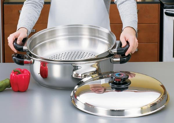 KTGIANT2 -Precise Heat Stainless Steel Oversized Skillet Steamer and Cover