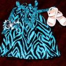 Blue Zebra Pillowcase Dress