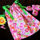 Hot Pink Sparkly Floral Pillowcase Dress