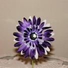 Gerbera Purple and White Daisy Clippie