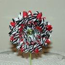 Gerbera Zebra on Red Daisy Clippie