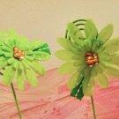 Mini Gerbera Lime and White Polka Dot Daisy Clippies