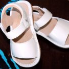 Squeaky Shoes White Patent Leather Sandals
