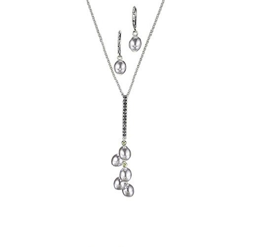 Grey: Mariette Faux Pearl Necklace and Earring Gift Set - Avon