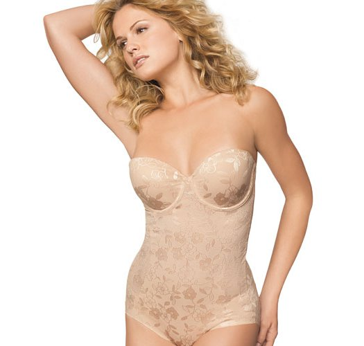 40D: Nude BALI Powershape Pretty All-in-One Firm Bustier Body Briefer - Avon