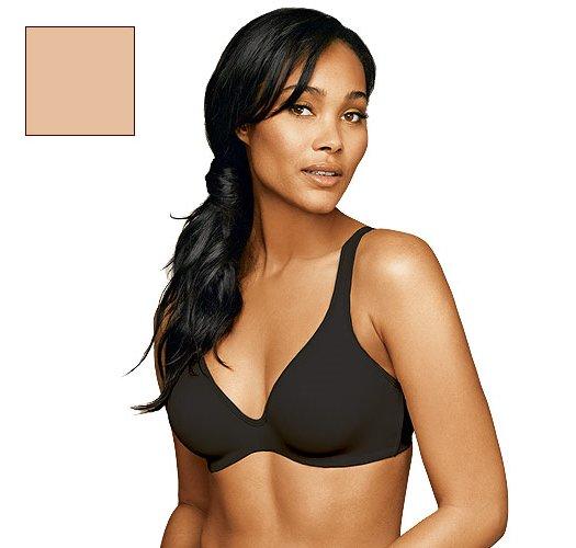 40C: Nude Hanes All-Over Comfort Hidden Underwire T-Shirt Bra - Avon