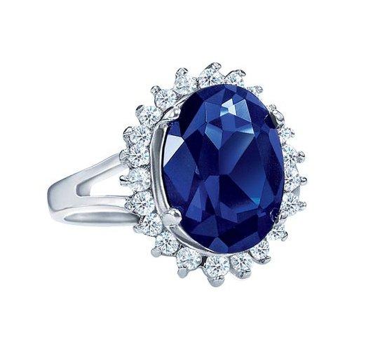 Size 11 Majestic Princess Faux Blue Sapphire Ring Avon