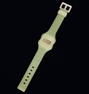 White Glow in the Dark Digital Rubber Strap Watch - Avon