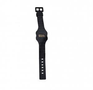 Black Digital Rubber Strap Watch - Avon