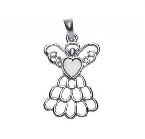 April Birthstone Angel Necklace (Diamond) - Avon