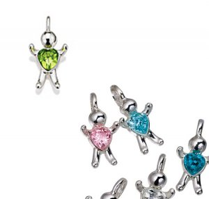 August CZ Birthstone Baby Hugs Charms - Avon